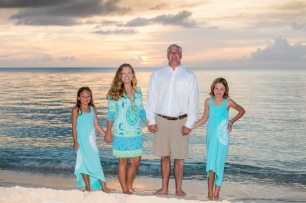 family portrait, The Ritz-Carlton Grand Cayman, cayman sunset, family portrait on the beach, cayman paradise
